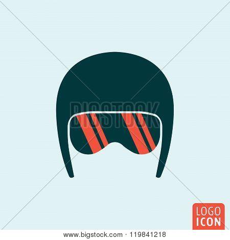Helmet icon isolated