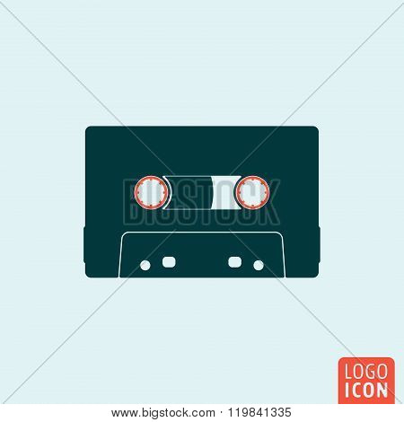 Cassette icon isolated