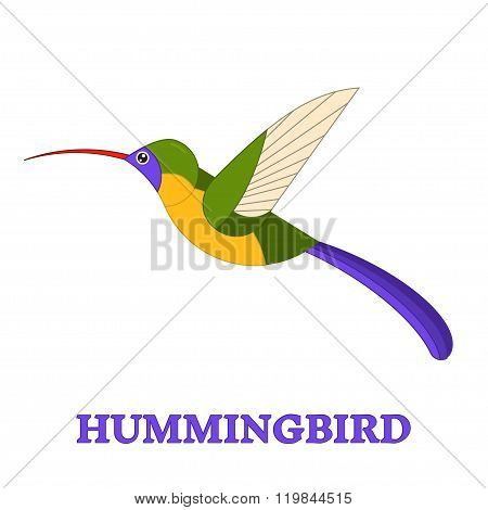 Hummingbird Line Art Icon