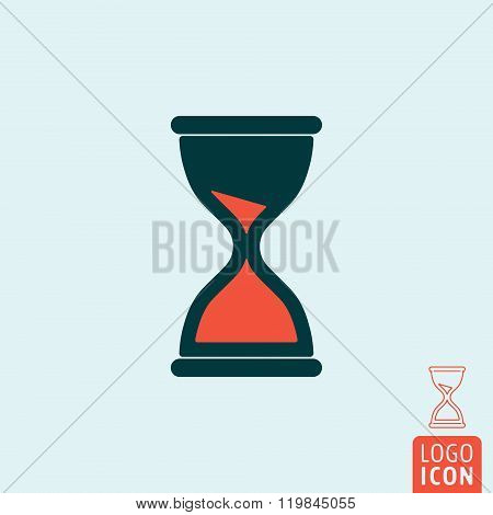 Sand Clock Icon Isolated