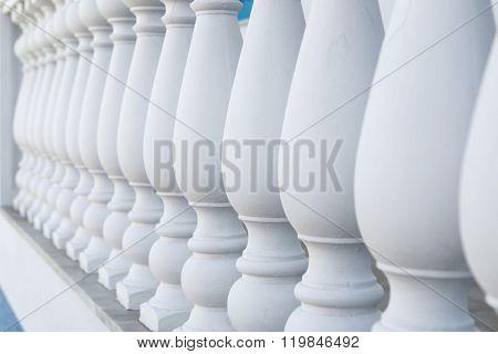 Balustrade Pillars In A Row