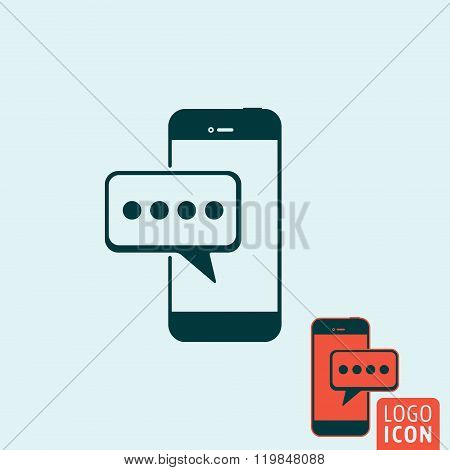 Mobile Message Icon Isolated