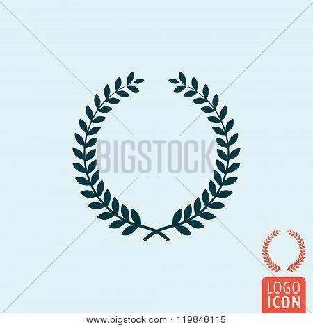 Laurel Wreath Icon Isolated