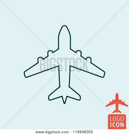 Plane Line Icon