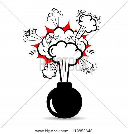 Bomb boom icon