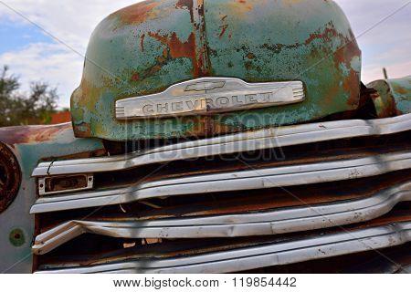 Abandoned Old Chevrolet Car