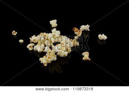 Popcorn Heap On Black Underground