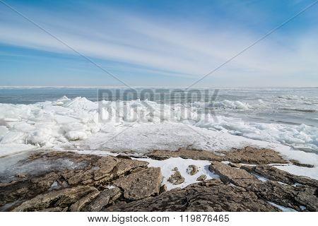 Winter Lake Erie