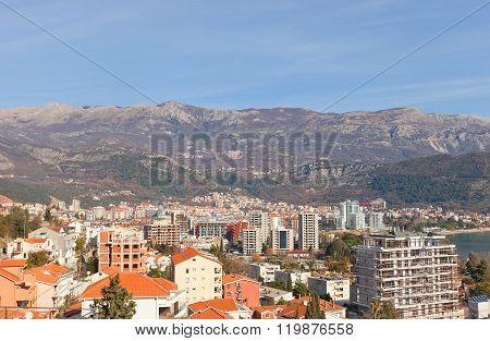 View Of Modern Part Of Budva, Montenegro