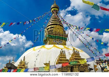 Monkey Temple In Nepal