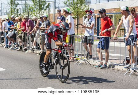 The Cyclist Samuel Sanchez - Tour De France 2015