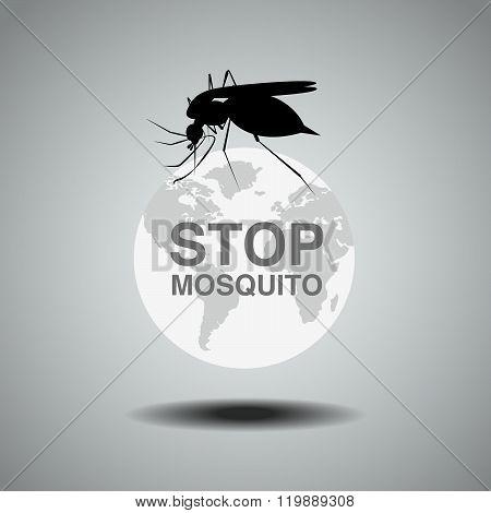 Mosquito , Flat Icon Design,logo