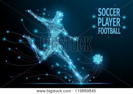 Football player polygonal