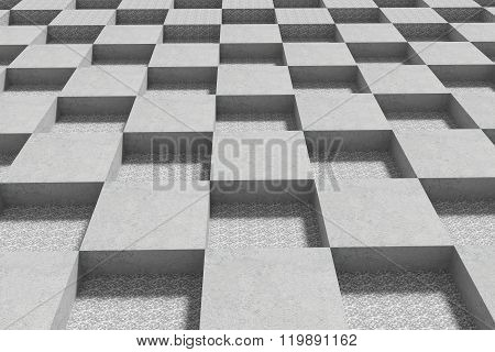 Grey Stone Cubes On Patterned Surface
