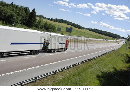 trucking on highway