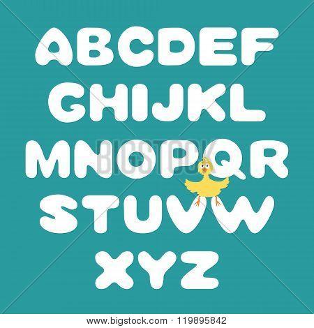 Hand-drawn vector alphabet