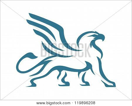 Griffin abstract blue