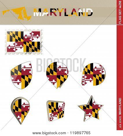 Maryland Flag Set, Flag Set #258