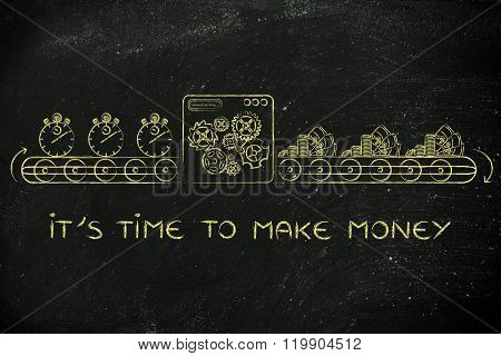 Machine Turning Stopwatches Into Cash, Time To Make Money