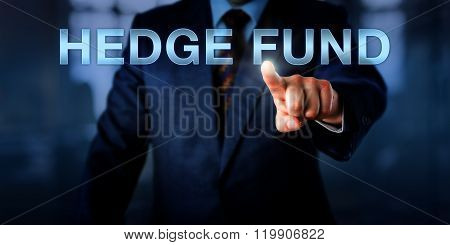 Portfolio Manager Pointing At Hedge Fund