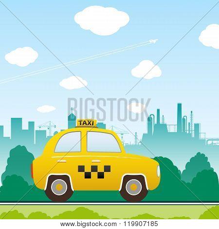 Car Taxi Vector