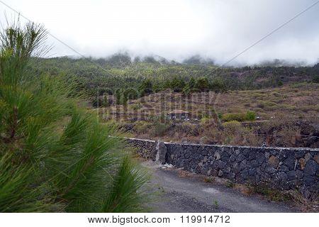 Landsape from La Palma mountains. Canary Islands. Spain.