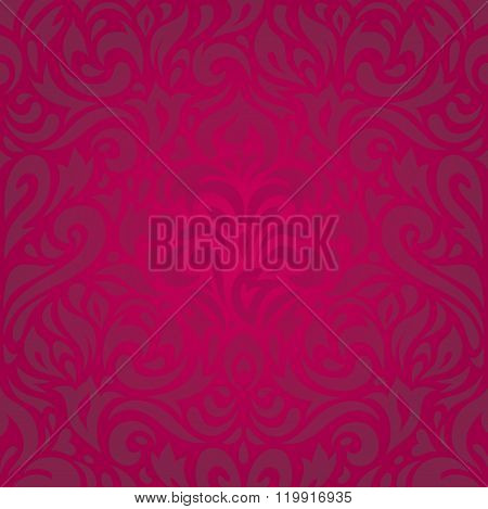 Floral red holiday  luxury invitation background retro design