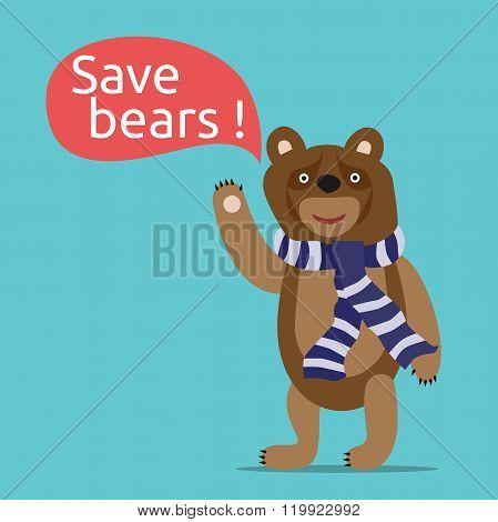 Save Bears Illustration