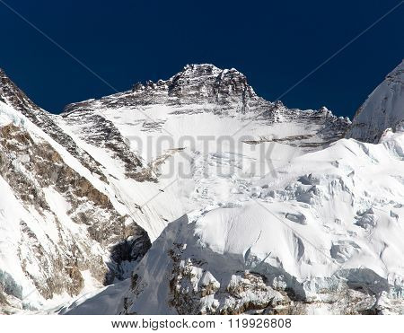 View Of Mount Lhotse From Pumo Ri Base Camp