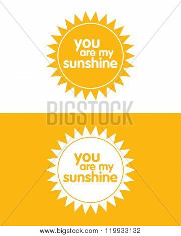Vector 'You are my Sunshine' Icon Set in Colour and Reverse