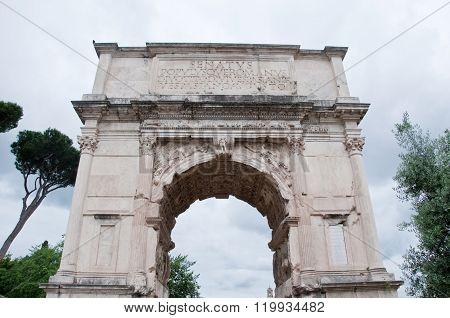 Arch Of Titus On The Via Sacra, Rome,