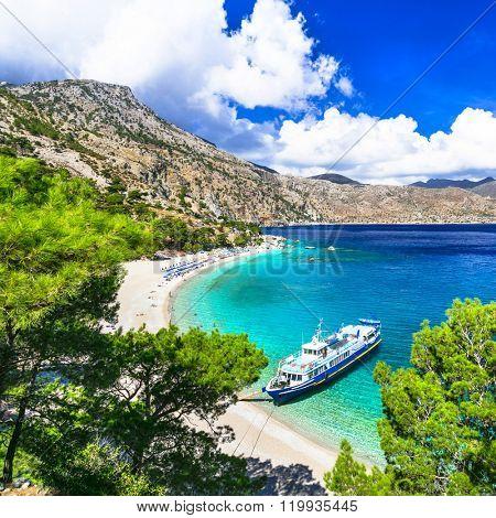 one of the ost beautiful beaches of Greece - Apella, Karpathos