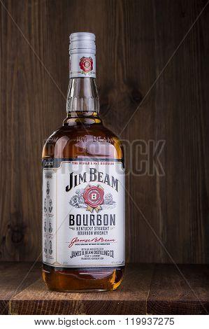 Photo Of A Bottle Of Jim Beam Bourbon