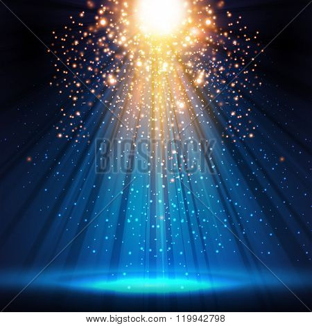 stage, light, spotlight, empty scene illustration easy all editable