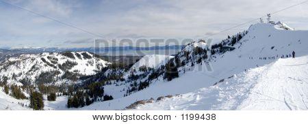 Skiing At The Top Of Lake Tahoe