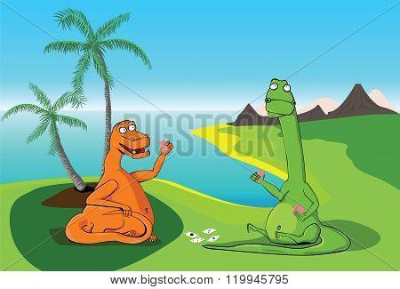 Dinos playing cards