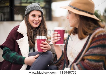 Friends With Hot Drink
