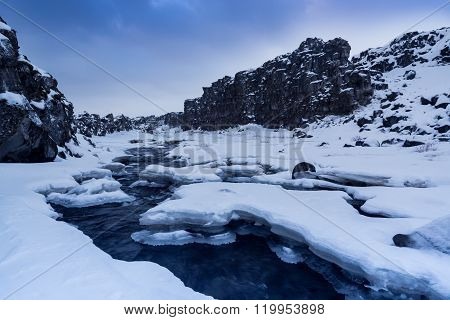 Landscape In Thingvellir, Iceland