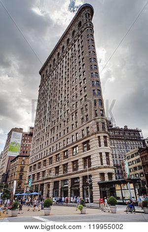 New York City, Ny/usa - Circa July 2015: Flatiron  Building