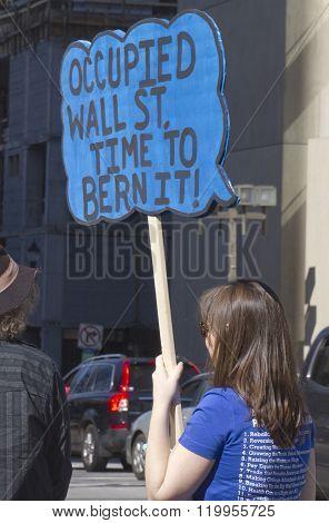 Time To Bern Wall Street