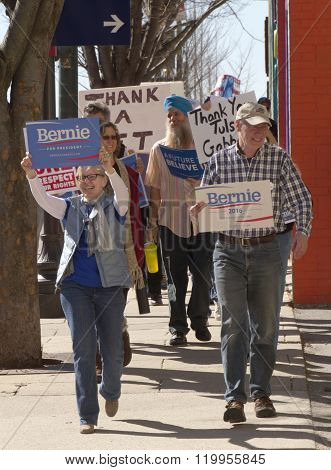 Enthusiastic Bernie Sanders Supporters