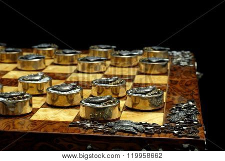 Exclusive Checkers of silver