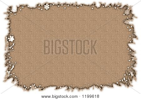 Stock Image Of Burlap Frame