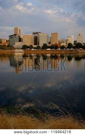 Portland Sunrise, Willamette Reflections