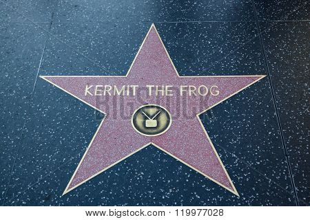 Kermit The Frog Hollywood Star