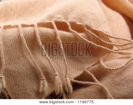Pink Pashmina Wool With Fringe