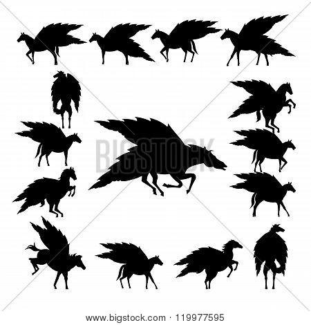 Set pegasus silhouette