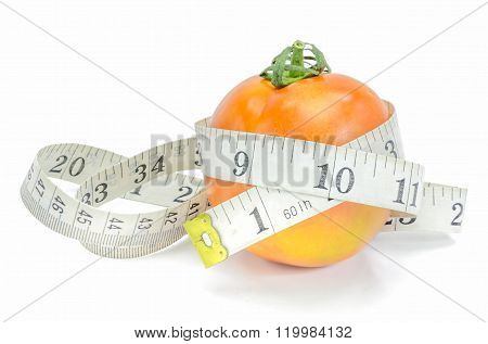 Measuring Tape With Tomato.