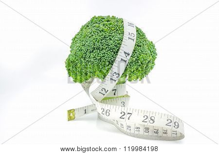 Measuring Tape With Broccoli.