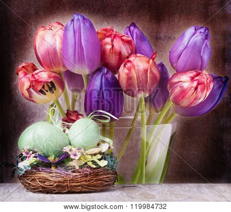 Tulips, Easter Decoration